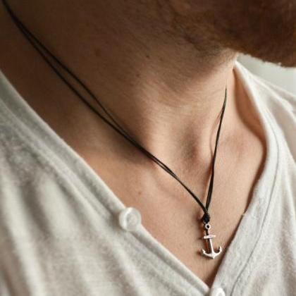 Anchor necklace for men, men's anch..