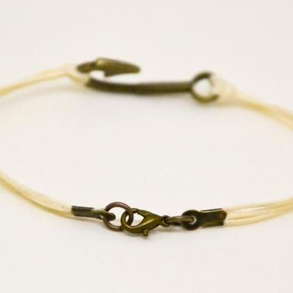 Men's bracelet, fish hook bracelet ..