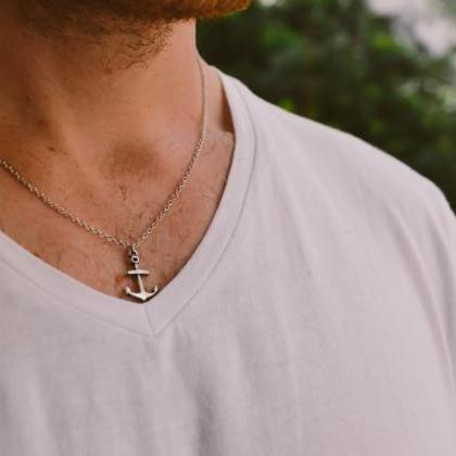 Anchor necklace for men, groomsmen ..