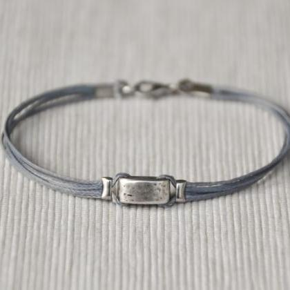 Gray bracelet for men, men's bracel..
