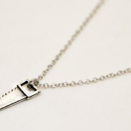 Saw necklace for men, men's necklac..