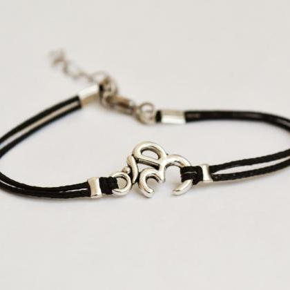 OM bracelet, women bracelet with Ti..