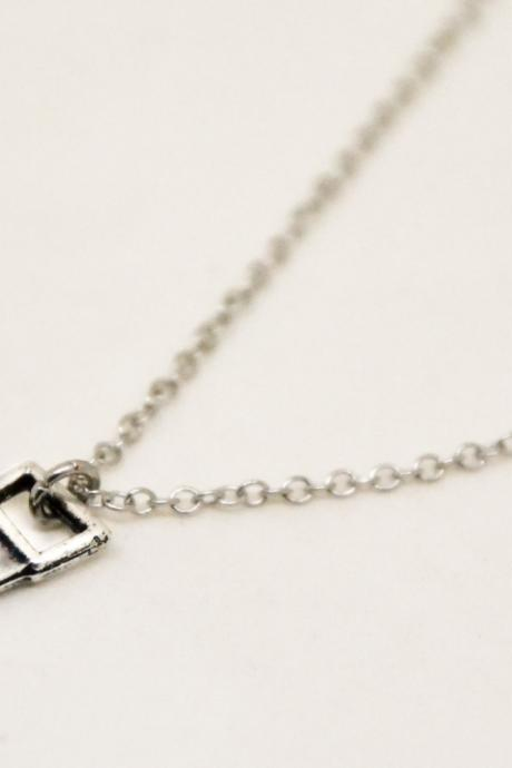 Saw necklace for men, men's necklace with silver hand nsaw pendant, silver chain, groomsmen gift, handyman, men's necklace, gift for husband